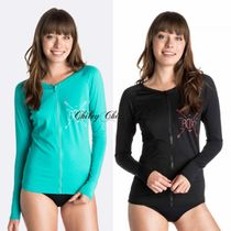 【ROXY】Easy Breezy Long Sleeve Zip Front Rash Vest/ラッシュ