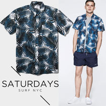 ●SATURDAYS SURF● 2016SS Esquina Palm Print シャツ 即発