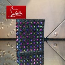 16AW 最新作☆ルブタン☆Paros Scarabee Wallet★MIX SPIKES★