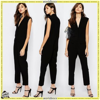 ASOS wrap front sleeveless jumpsuits