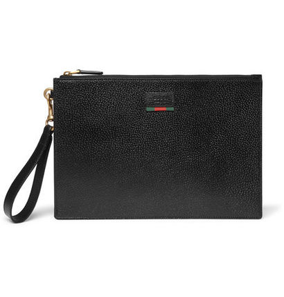Agora Grained-Leather Pouch レザーポーチ クラッチ
