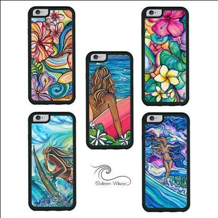 Hawaiiロコのサーフアート【Colleen Wilcox Art】iphone case