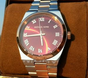 送料関税込★Michael Kors Channing Red Two tone Ladies MK6114