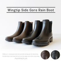 【NEW】【Pompadour-ポンパドール-】Wingtip Side Gore RainBoot