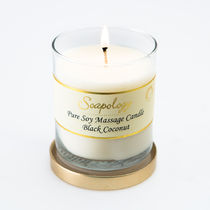 Soapology(ソーポロジー) アロマ・バスグッズその他 (NYC限定商品) Soapology Soy Massage Candle Black Coconut
