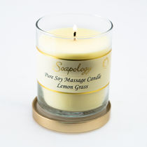 Soapology(ソーポロジー) アロマ・バスグッズその他 (NYC限定商品) Soapology Soy Massage Candle Lemon Grass