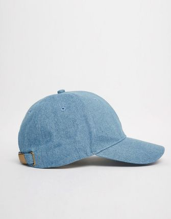 ASOS Baseball Cap In Mid Wash Denim