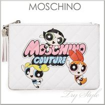 2016SS★Moschino パワーパフ ガールズ プリント クラッチバッグ