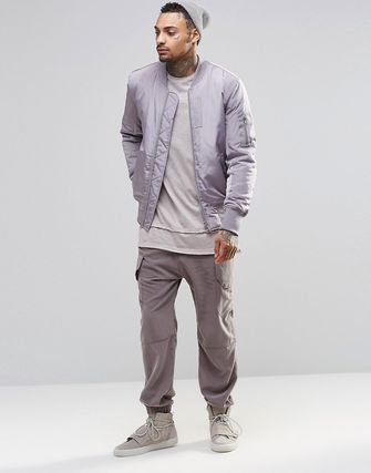 ASOS Drop Crotch Joggers In With Cargo Styling