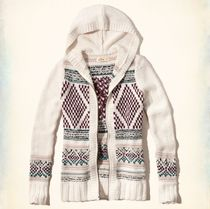 ★即発送★在庫あり★Hollister★Patterned Hooded Cardigan★