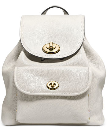 COACH バックパック Mini Turnlock Rucksack in Pebble Leather