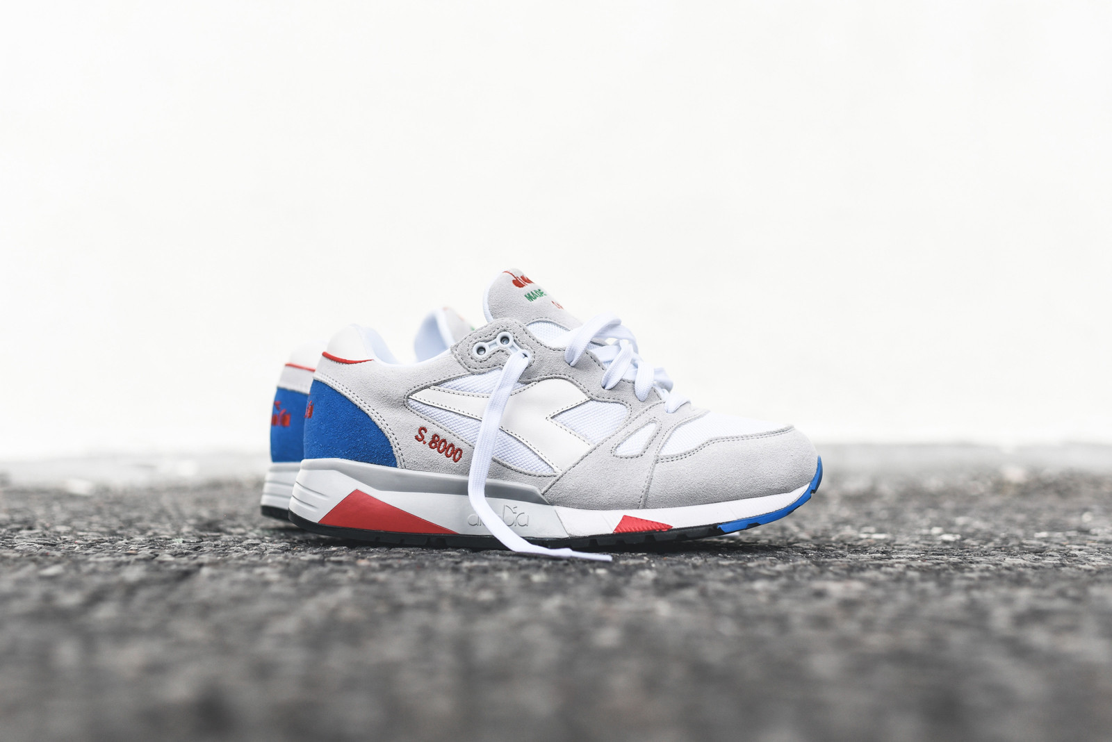 【送料無料】 Diadora S8000 Italia - Light Grey / Micro Blue
