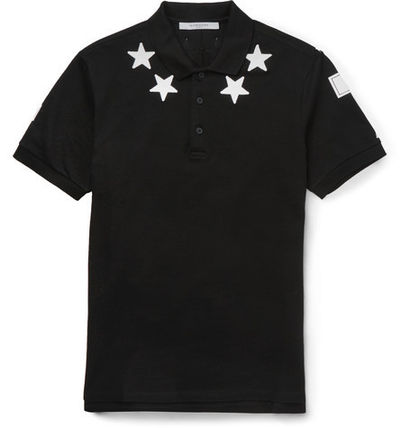 カラバリ Star-Appliqued Cotton-Pique Polo Shirtポロシャツ