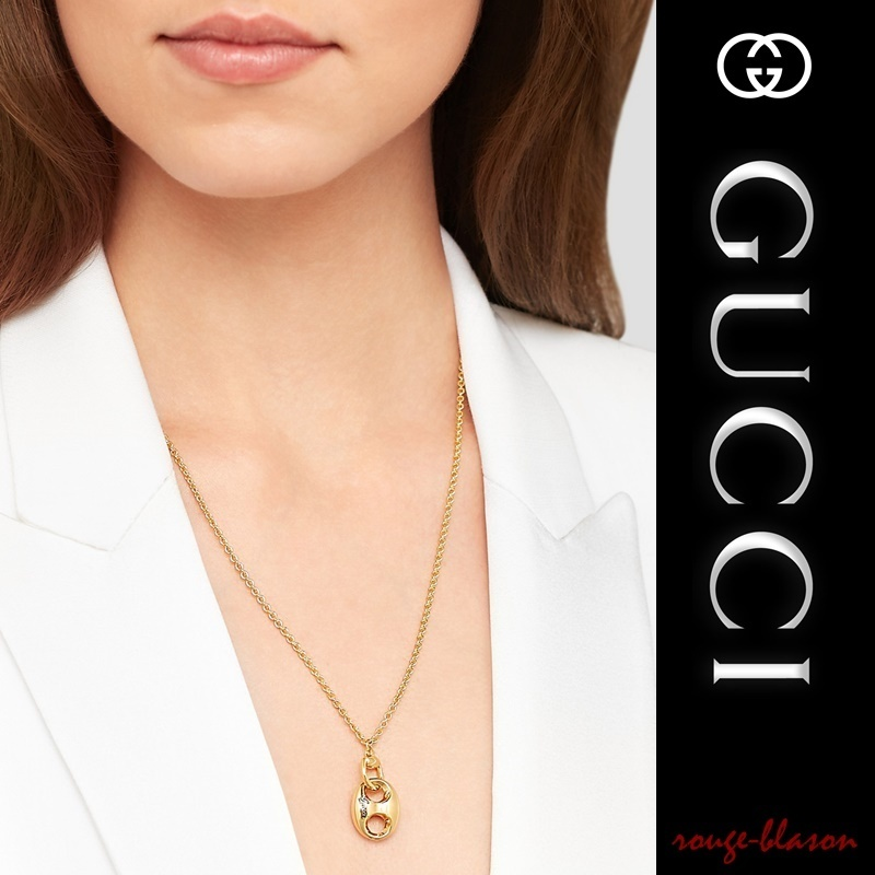 【国内発送】GUCCI Horsebit 18-karat gold necklace ゴールド