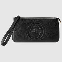 ★新作関税込★GUCCI Soho leather wristlet 長財布