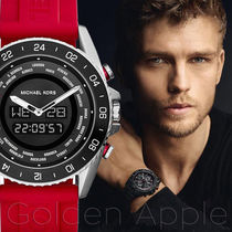 送料関税込★Michael Kors JetMaster Red Rubber Mens MK8402