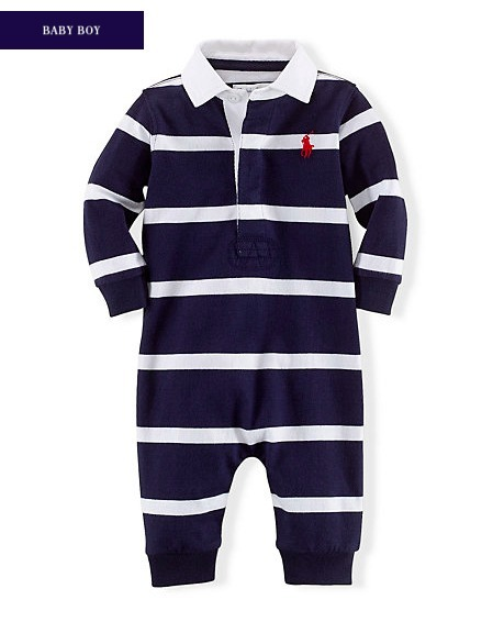 新作♪ 国内発送 STRIPED COTTON COVERALL BOYS 0~24M