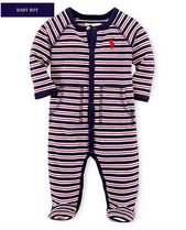 新作♪ 国内発送 6色STRIPED COTTON COVERALL BOYS 0~24M