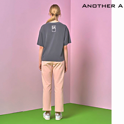 【ANOTHER A】韓国人気★シンプル!ロゴ入りTシャツ GREY/追跡付