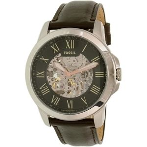 ★Fossil★ Grant ME3100 Silver Leather 腕時計 関税込★