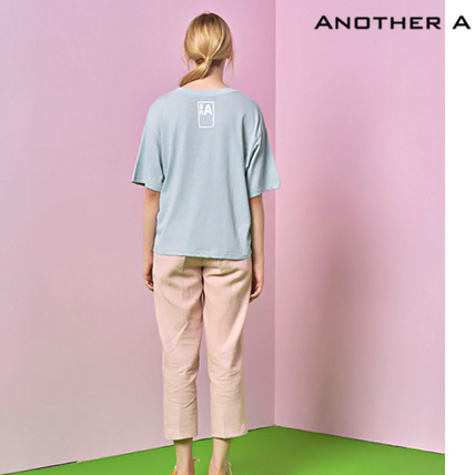 【ANOTHER A】韓国人気★シンプル!ロゴ入りTシャツ MINT/追跡付