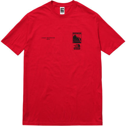 16S/S Supreme North Face Steep Tech Tee Tシャツ Red