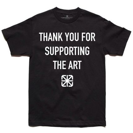 THE SEVENTH LETTER SUPPORTER TEE BLACK