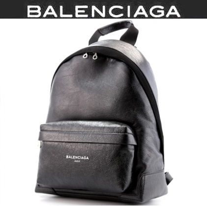 EX NAVY leather backpack / black