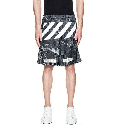 OFF WHITE 16SS MARBLE MESH SHORTS/EMS