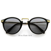 【手元に在庫あり】ROUND HORNED RIM FRAME*Shiny Black Gold