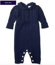新作♪ 国内発送 2色ARAN-KNIT COTTON COVERALL BOYS 0~24M