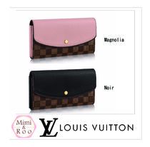 Louis Vuitton*ダミエ☆*PORTEFEUILLE NORMANDY*2つ折り長財布