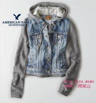 American Eagle Outfitters(アメリカンイーグル) ジャケット ☆American Eagle Outfitters☆人気のフード付きデニムGシャン