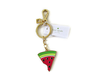 kate spade Gold Plated Watermelon Key Fobs