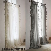 【Urban Outfitters】Ruffle Gauze Curtain 2枚セット*送込♪