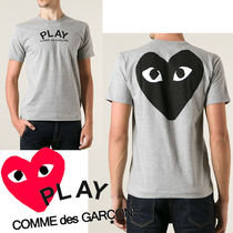 ● COMME des GARCONS ● Play Printed ロゴ 両面Tシャツ グレー