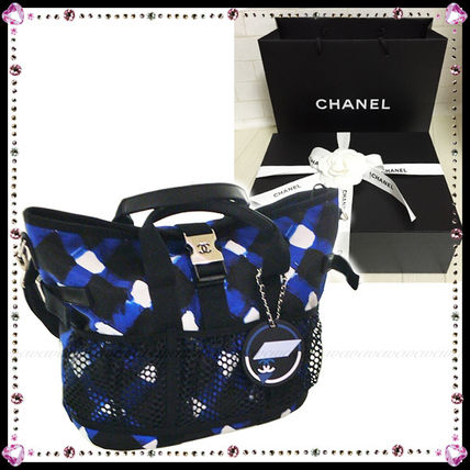 16SS限定★CHANEL 大人気!!AIRLINESプリントトート