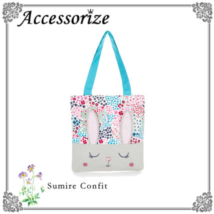 Accessorize 国内発送☆花柄♪うさぎさんトートバッグ