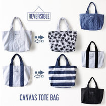 【NEW】Canvas Reversible Bag -[ボーダー柄 ティーツリー柄]