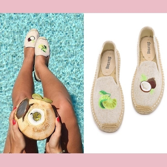 【SOLUDOS】トロピカル刺繍エスパドリーユ Lime & Coconut