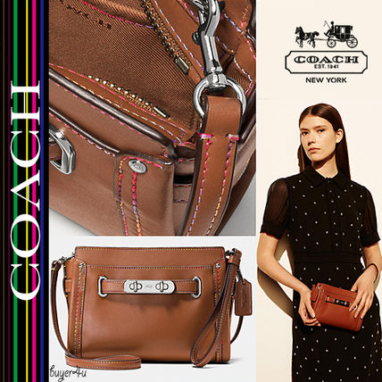 COACH★SWAGGER WRISTLET IN RAINBOW STITCH LEATHER (65531)