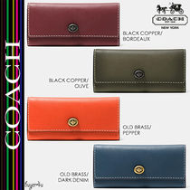 COACH★TURNLOCK WALLET BURNISHED GLOVETANNED LEATHER (55190)