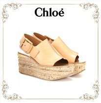 【大人気!】★Chloe★ Leather platform sandals