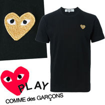 ● COMME des GARCONS ●ワンポイント Gold Heart Tシャツ 黒
