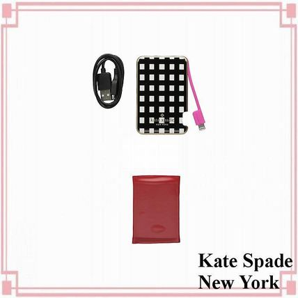 【Kate Spade New York】 アイフォンバッテリーバンク/ケーブル