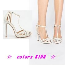 ASOS PEACE Bridal Caged High Heels♪