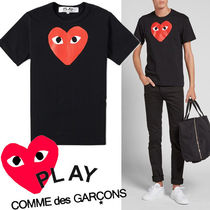 ● COMME des GARCONS PLAY ● Red Play Heart Tシャツ 黒x赤