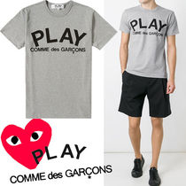 ● COMME des GARCONS PLAY ● Play ロゴ Tシャツ /グレーx黒