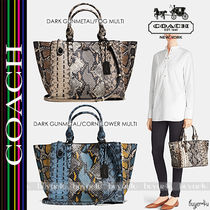 COACH★CROSBY CARRYALL PIECED EXOTIC EMBOSSED LEATHER 37177