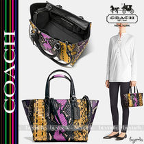 COACH★MINI CROSBY PIECED EXOTIC EMBOSSED LEATHER (37286)
